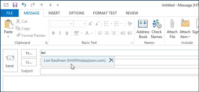 آموزش غیر فعال کردن Complete Feature در Outlook 2013