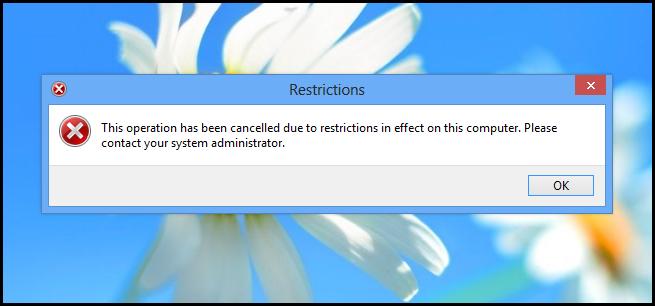 فعال یا غیر فعال کردن کنترل پنل و تنظیمات کامپیوتر در ویندوز 8