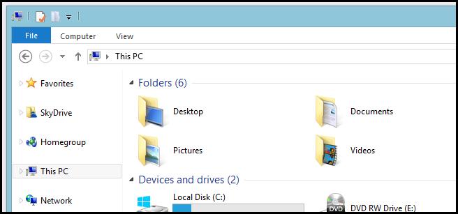 ایجاد کتابخانه در ناوبری پنجره بر روی ویندوز 8.1