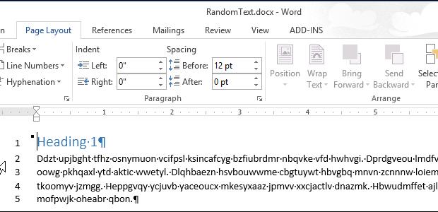 اضافه کردن خطوط شماره خط در سمت چپ حاشیه در Word 2013