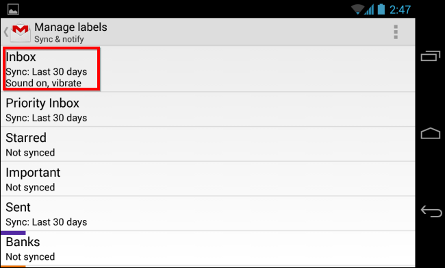 android-gmail-labels
