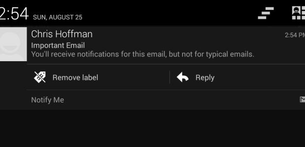 دریافت اطلاعیه تنها در ایمیل شما با جیمیل برای مراقبت از آندروید