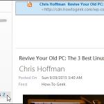 00 lead image todays rss feeds 150x150 اضافه کردن یک یادداشت به یک پیام ایمیل در Outlook 2013