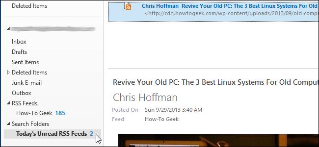 مشاهده RSS در Outlook 2013