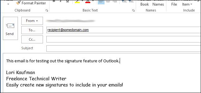 ایجاد یک امضا جدید در Outlook 2013