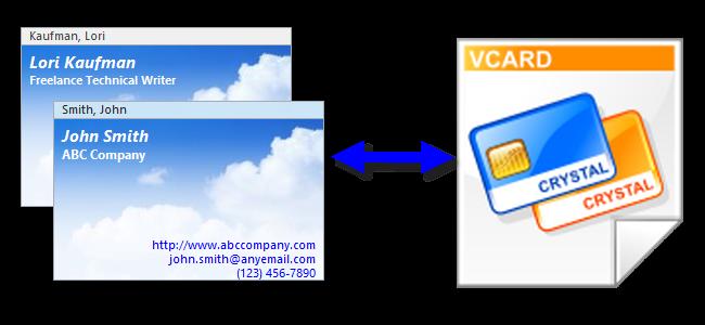 صدور چندگانه تماس ها در Outlook 2013 به چند vCard یا کارت مجازی