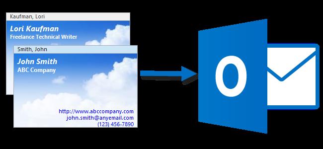 وارد کردن چند تماس به Outlook 2013 از کارت مجازی تنها با فایل ( . VCF )