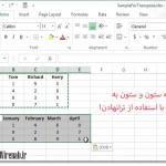 06 transposed cells1 150x150 اضافه کردن ماشین حساب به نوار ابزار در Excel 2013