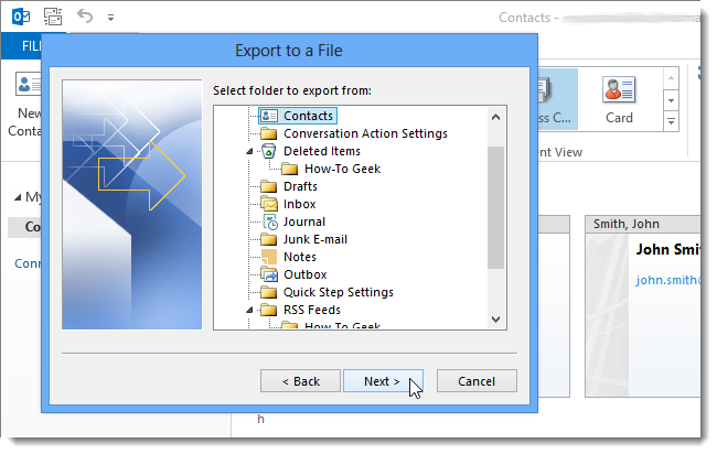 15_selecting_folder_to_export_from