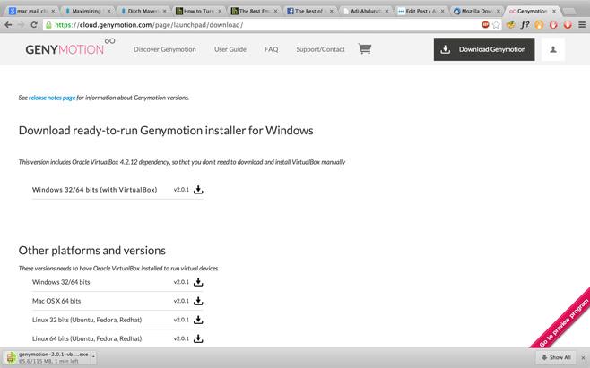 GenymotionWebpage Genymotion: نرم افزاری برای مجازی سازی آندروید
