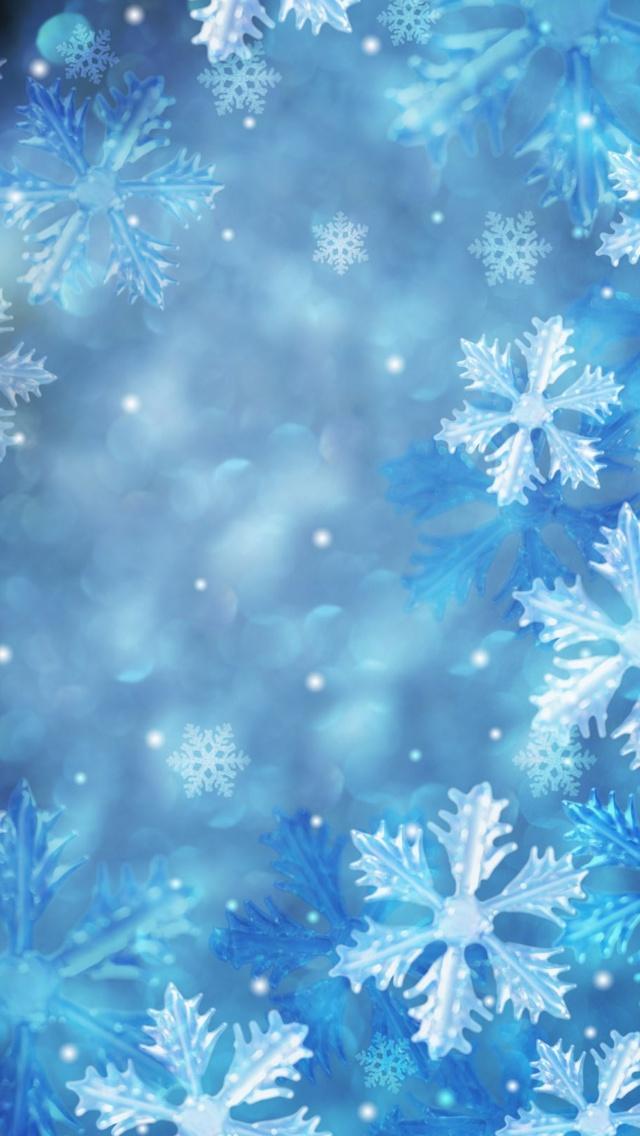 snowflake مجموعه والپیپر با موضوع زمستان برای iPhone