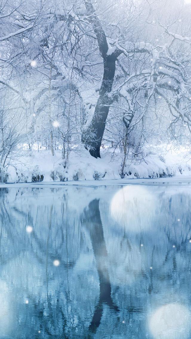timely snow مجموعه والپیپر با موضوع زمستان برای iPhone