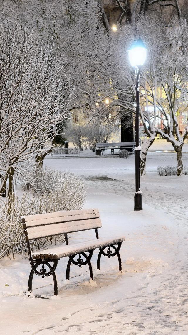 winter park مجموعه والپیپر با موضوع زمستان برای iPhone