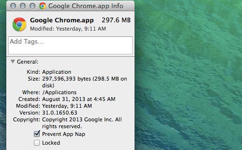 app nap 20 سئوال و جواب درباره سیستم عامل Mac که احتمالا آن را نمی دانید