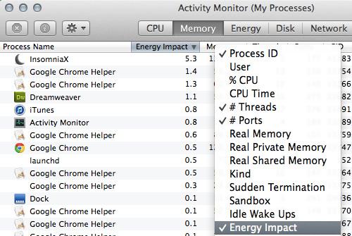 energy impact 20 سئوال و جواب درباره سیستم عامل Mac که احتمالا آن را نمی دانید