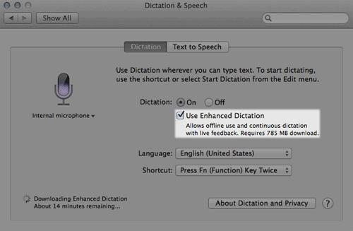 offline dictation 20 سئوال و جواب درباره سیستم عامل Mac که احتمالا آن را نمی دانید