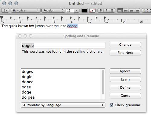 spell check 20 سئوال و جواب درباره سیستم عامل Mac که احتمالا آن را نمی دانید
