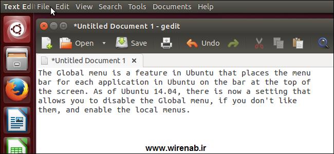 فعال کردن منوها در Ubuntu 14.04