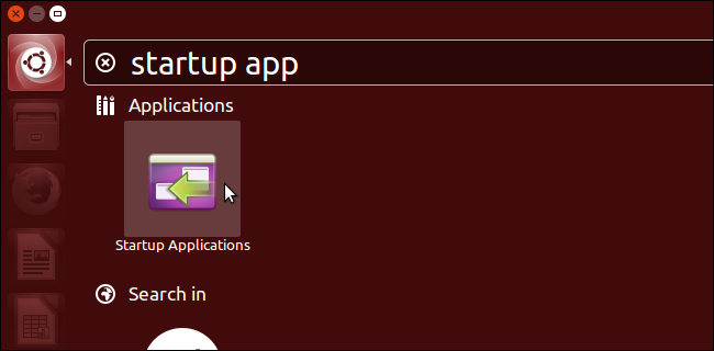 05 opening startup apps آموزش اضافه کردن دسکتاپ در تسک بار در اوبونتو  14.04