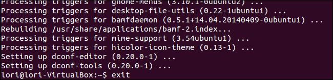 03 closing terminal window نمایش نوار آدرس مسیر پوشه یا فایل در پنجره برنامه در اوبونتو 14.04