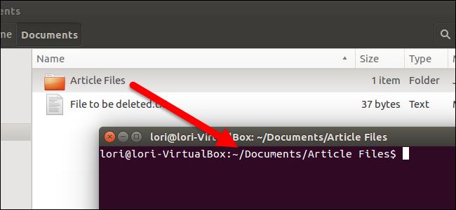 چگونه ترمینال به یک پوشه خاص در مرورگر فایل اوبونتو باز کنیم؟
