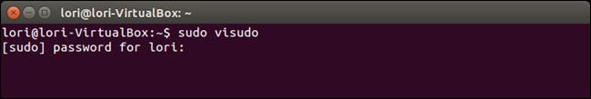 01 opening visudo file چگونه در ترمینال لینوکس پسورد را به صورت ستاره ای نمایش دهیم؟