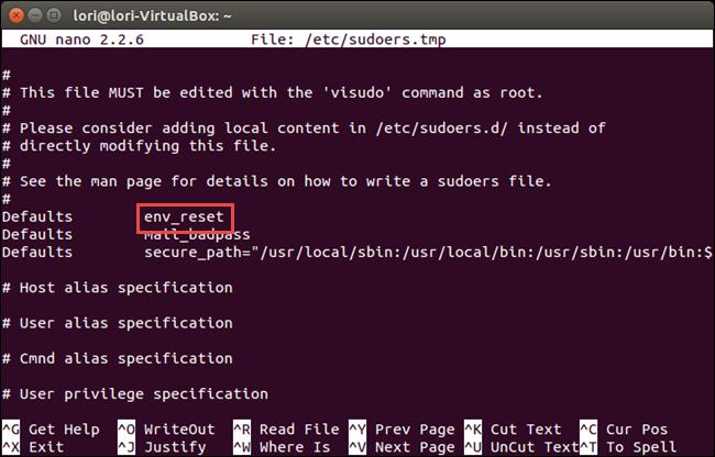 02 env reset line original چگونه در ترمینال لینوکس پسورد را به صورت ستاره ای نمایش دهیم؟