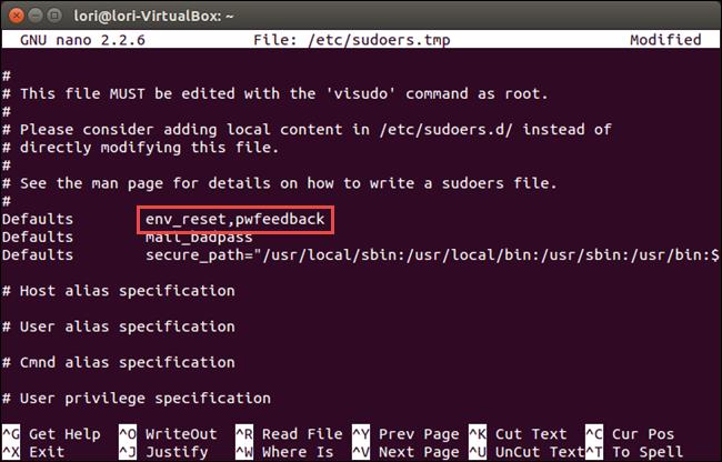 03 env reset line revised1 چگونه در ترمینال لینوکس پسورد را به صورت ستاره ای نمایش دهیم؟
