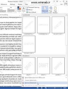چگونه به صفحه های 2013 word واترمارک اضافه کنیم